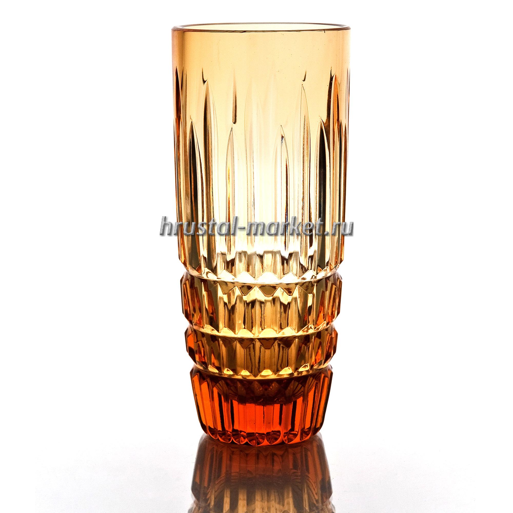 Набор хрустальных стаканов «Бутон» рисунок Медовый спас производства  Гусь-Хрустальный купить в интернет-магазине в Москве от завода, фото, цены,  отзывы